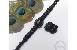 Komplet lace black soutache