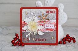 Świąteczna kartka z kwiatem magia