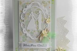 Pamiątka ślubna z Młodą Parą zielona