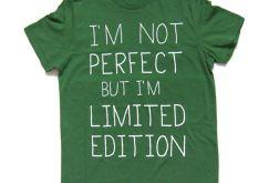 I'm not perfect - zielonyT-shirt