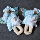 Zabawka tekstylna - Aniołek turkusowy