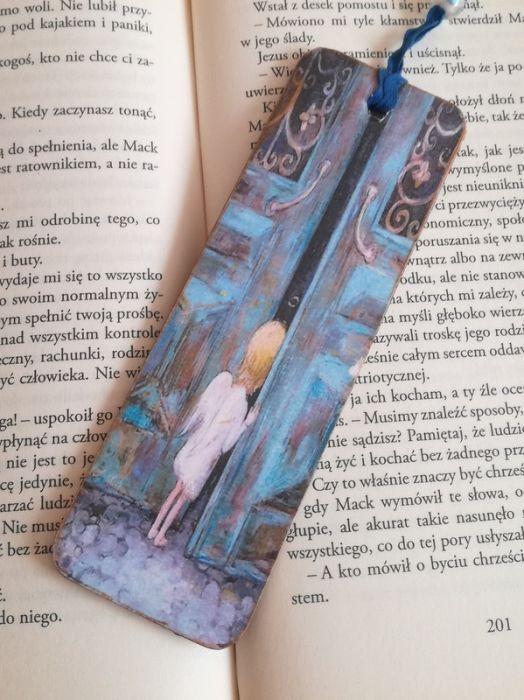 Zakładka do książki z aniołkiem