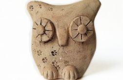 Ceramiczna leśna sowa 05