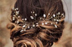 Ozdoba ślubna do włosów INES firmy LAURIS