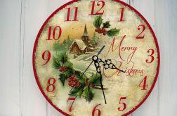 Zegar Ścienny Świąteczny