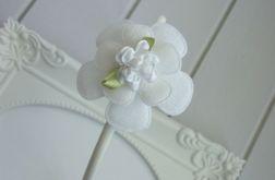 Nomma OPASKA do włosów Białe kwiatki