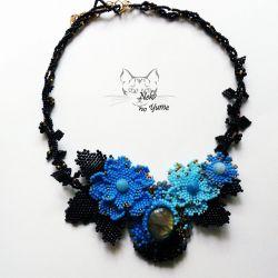 Secret Garden - naszyjnik, haft koralikowy