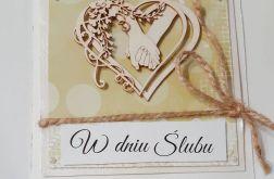 Kartka ślubna rustykalna