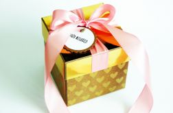 Złoto róż i eko pudełko na ślub
