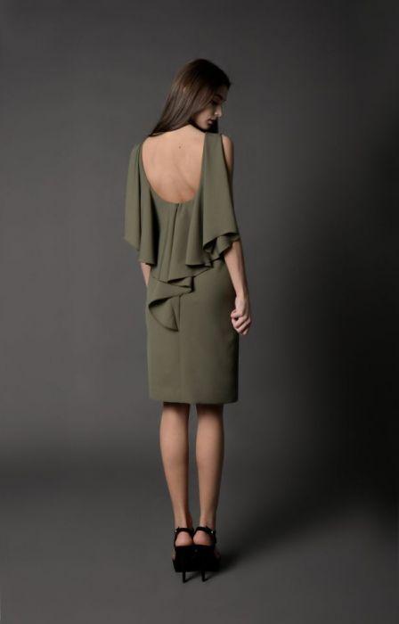 koktajlowa sukienka NATALIJA -khaki