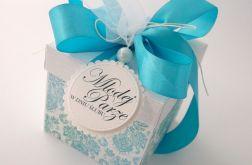 Pudełko na ślub Ornamenty w błękicie