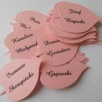 Winietki podziękowania LISTKI ślubne