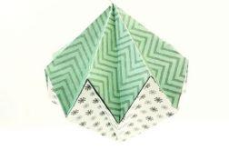 Bombka origami diament z papieru śnieżynki