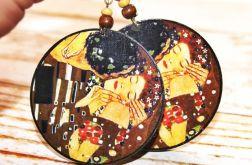 Klimt - Pocałunek kolczyki decoupage