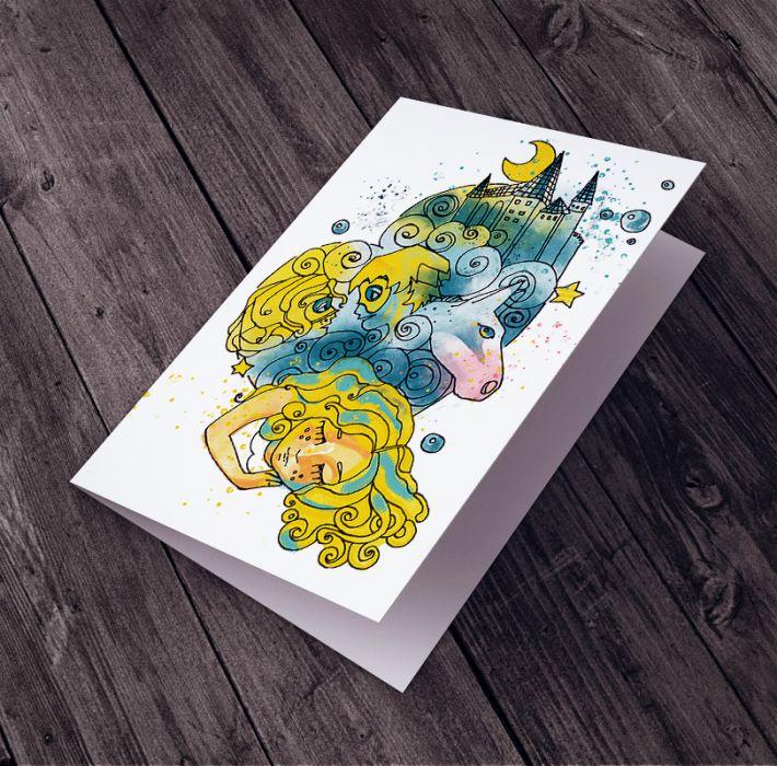 Karteczka Urodzinowa dla Dziewczynki -