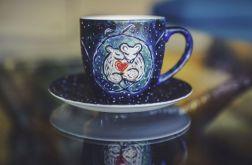 Kubek malowany - Zakochane Myszki
