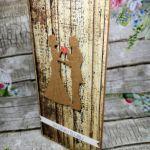 Kartka ślubna z motywem drewna 07 - kartka slubna z życzeniami