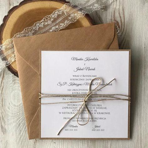 Zaproszenie na ślub - jednostronne