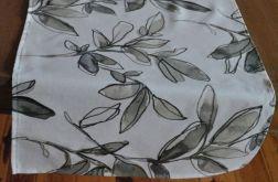 Bieżnik w szare liście - 44 x 135 cm
