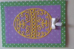 Kartka wielkanocna z pisanką