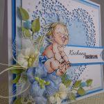 kartka na narodziny #1 - widok pokazujący warstwowanie