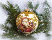 Bombka  Złoty Mikołaj