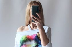 Sweter damski asymetryczny dekolt, odkryte ramię 01