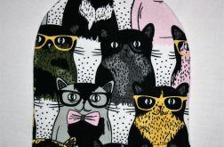 Czapka w koty rozmiar 12-18 m-cy (beanie)