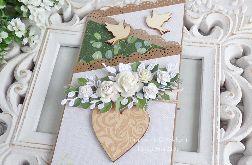 Ślubna kartka kaskadowa w pudełku 469
