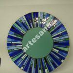 Lustro witrazowe Tiffany mozaika kolo morskie