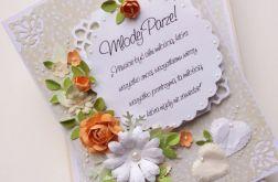 Ślubny Komplet z bukietem kwiatów