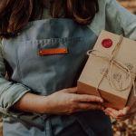 Kubek ręcznie malowany - Muchomor - Opakowanie prezentowe