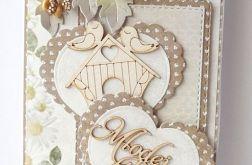 Kartka ślubna beżowa G24