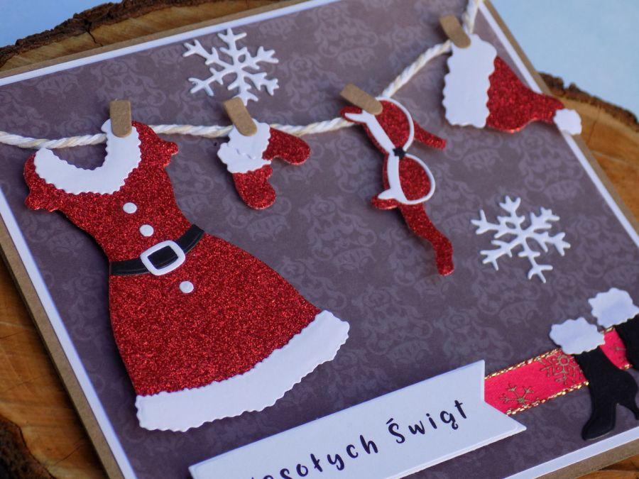 Kartka na Boże Narodzenie z przymróżeniem oka