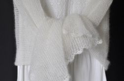 szal mgiełka biały ślub