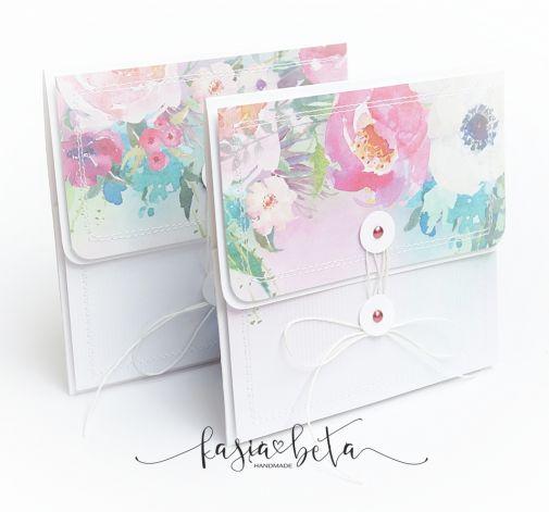 Mini kopertówka wiązana - Ślub róż