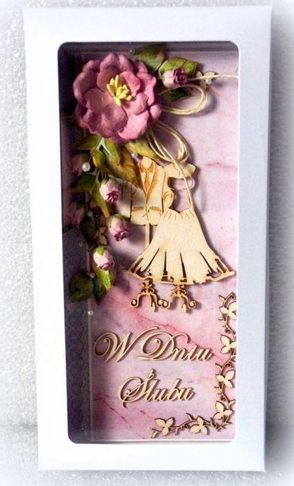 Kartka ślubna w pudełku nr 004