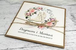 Rustykalna kartka ślubna para młoda SLB 102