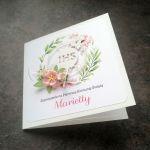 Zaproszenie na komunię dla dziewczynki z kwiatkami różowo zielono białe  ZKS 019 - Zaproszenie na komunię dla dziewczynki z kwiatkami różowo zielono białe  (3)