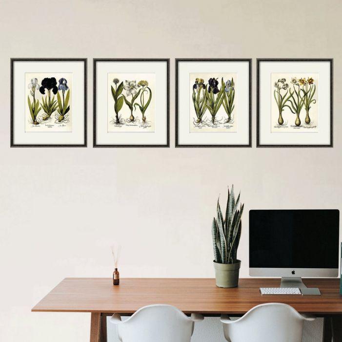 Kwiaty wydruk  grafika reprint vintage -