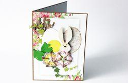 Kolorowych świąt kartka z wesołym zającem