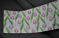 Bieżnik 40 x 130 - różowe tulipany