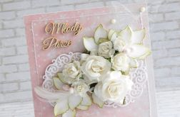 Ślubna -biel róż