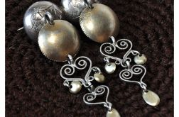 4 stara, srebrna, ślubna, norweska broszka;