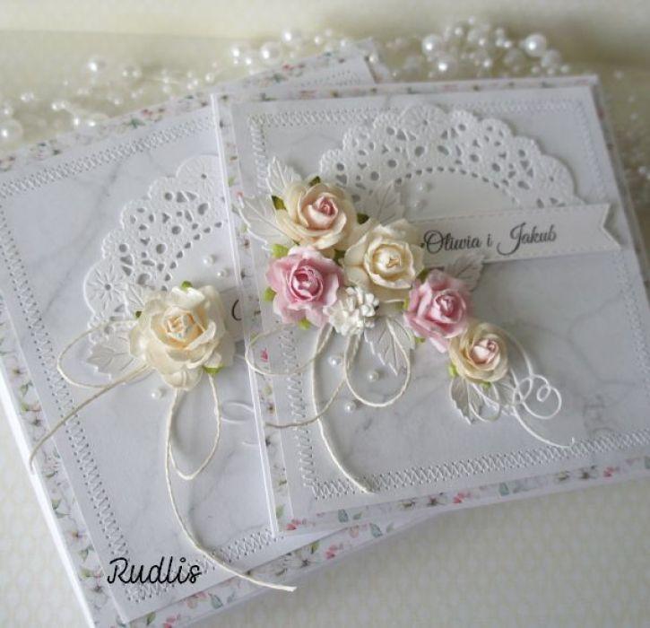 Kartka ślubna w pudełku - szyty komplet v.4 - szyta1ddd