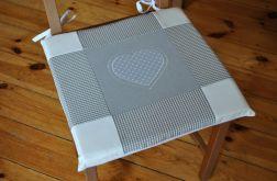 Poduszka na krzesło, siedzisko - popielate serce