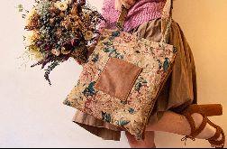Żakardowa double bag w kwiaty