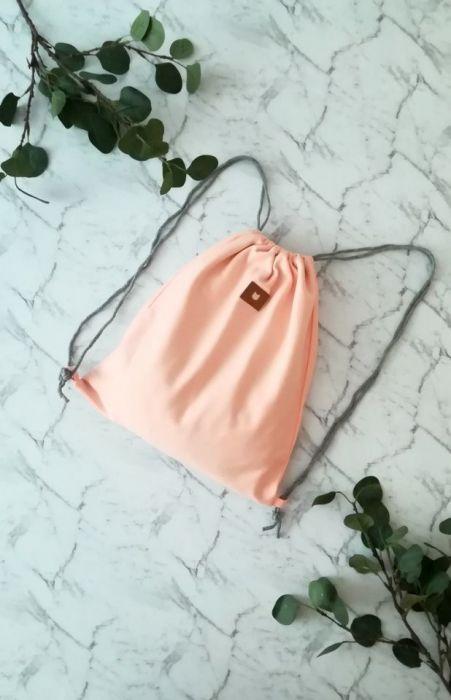Worek /plecak brzoskwiniowy