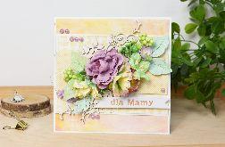 Kartka DLA Mamy - fioletowe kwiaty