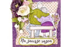 Kartka na ślub ze straszą parą - #632